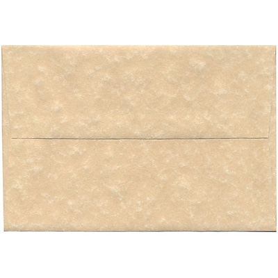 JAM Paper® A8 Invitation Envelopes, 5.5 x 8.125, Parchment Brown Recycled, 50/pack (52066I)