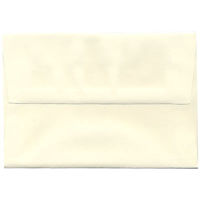 JAM Paper® A8 Invitation Envelopes, 5.5 x 8.125, Strathmore Natural White Linen, 50/pack (59763I)
