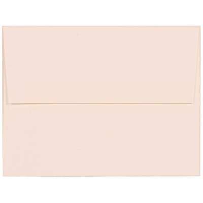 JAM Paper® A2 Invitation Envelopes, 4 3/8 x 5 3/4, Strathmore Bright White Linen, 50/pack (66670I)