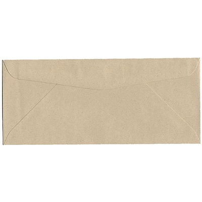 JAM Paper® #10 Business Envelopes, 4 1/8 x 9 1/2, Sandstone Ivory Recycled, 500/box (71037H)