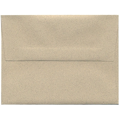 JAM Paper® A2 Passport Invitation Envelopes, 4.375 x 5.75, Sandstone Brown Recycled, 50/Pack (71144I)