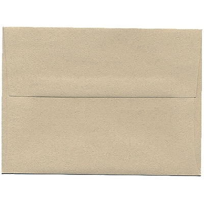 JAM Paper® A6 Invitation Envelopes, 4.75 x 6.5, Sandstone Ivory Recycled, 50/pack (71201I)