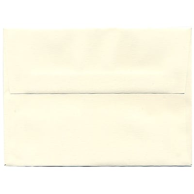 JAM Paper® A6 Invitation Envelopes, 4.75 x 6.5, Strathmore Natural White Linen, 250/box (74083H)