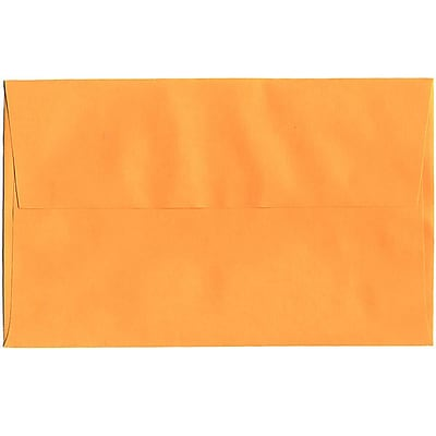 JAM Paper® A10 Invitation Envelopes, 6 x 9.5, Brite Hue Ultra Orange, 250/box (80377H)
