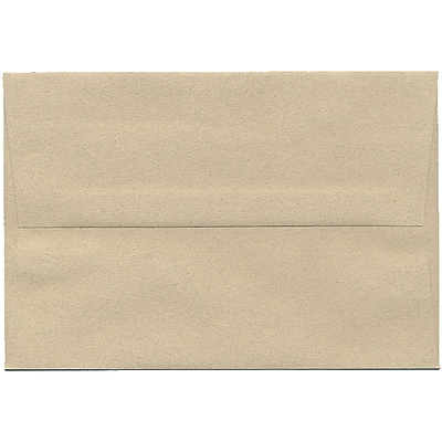 JAM Paper® A8 Invitation Envelopes, 5.5 x 8.125, Sandstone Ivory Recycled, 50/pack (83728I)