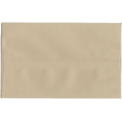 JAM Paper® A10 Invitation Envelopes, 6 x 9.5, Sandstone Ivory Recycled, 50/pack (83736I)