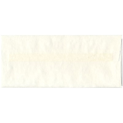 JAM Paper® #10 Business Envelopes, 4 1/8 x 9 1/2, Parchment White Recycled, 500/box (900829012H)