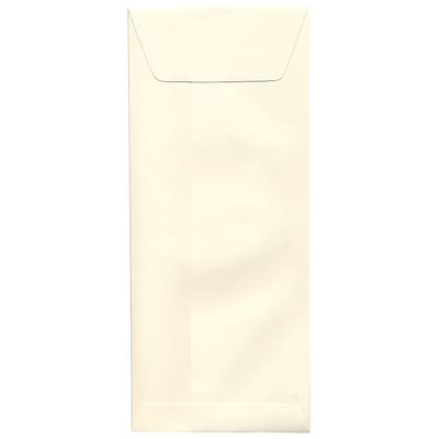 JAM Paper® #12 Policy Envelopes, 4.75 x 11, Strathmore Natural White Wove, 50/pack (900894427I)