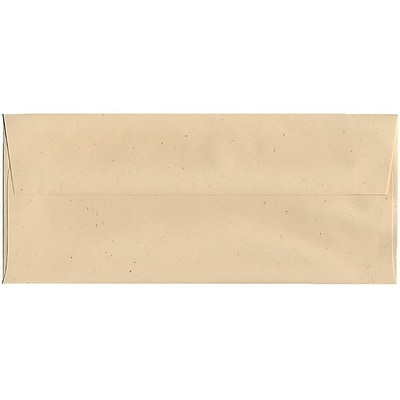 JAM Paper® #10 Business Envelopes, 4 1/8 x 9 1/2, Husk Brown Recycled, 50/pack (900909507I)