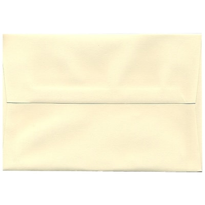 JAM Paper® A8 Invitation Envelopes, 5.5 x 8.125, Strathmore Ivory Laid, 50/Pack (90810172I)