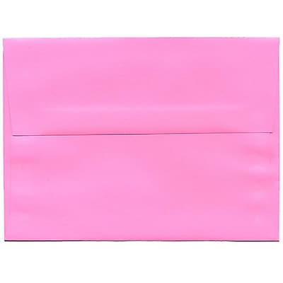 JAM Paper® A6 Invitation Envelopes, 4.75 x 6.5, Brite Hue Ultra Pink, 250/box (94606H)