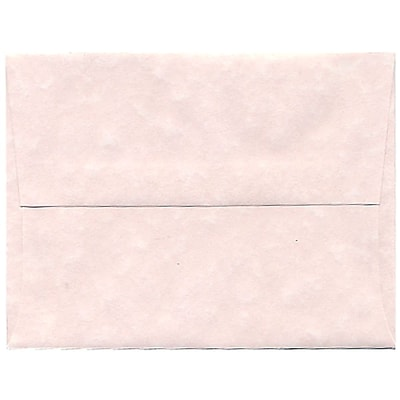 JAM Paper® A2 Parchment Invitation Envelopes, 4.375 x 5.75, Pink Recycled, 50/Pack (97800I)