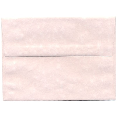 JAM Paper® A6 Invitation Envelopes, 4.75 x 6.5, Parchment Pink Recycled, 50/pack (97818I)