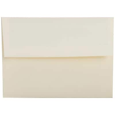 JAM Paper® A2 Invitation Envelopes, 4 3/8 x 5 3/4, Strathmore Natural White Linen, 50/pack (99761I)