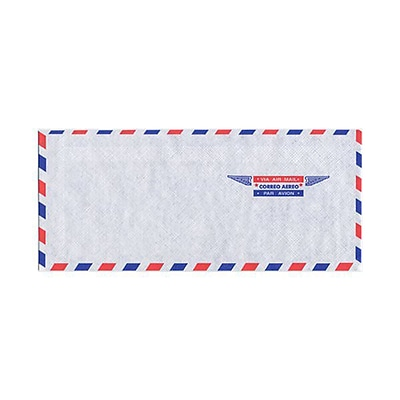 JAM Paper® Airmail #10 Envelopes, 4 1/8 x 9 1/2, 50/pack (A35532I)