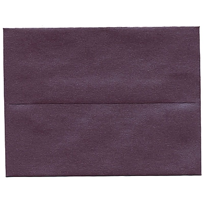 JAM Paper® A2 Invitation Envelopes, 4 3/8 x 5 3/4, Stardream Metallic Ruby Purple, 50/pack (GCST604I)