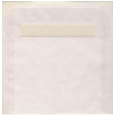 JAM Paper® 8.5 x 8.5 Square Envelopes, Clear Translucent Vellum, 50/pack (GTGN530I)