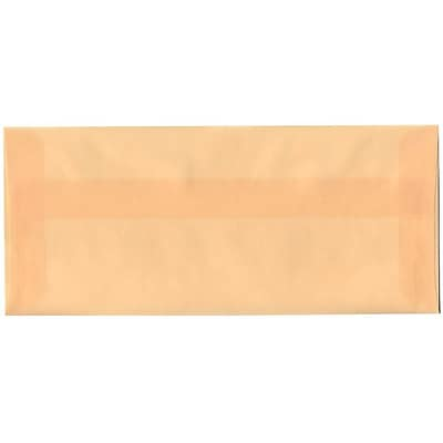 JAM Paper® #10 Business Envelopes, 4 1/8 x 9 1/2, Spring Ochre Ivory Translucent Vellum, 500/box (PACV350H)