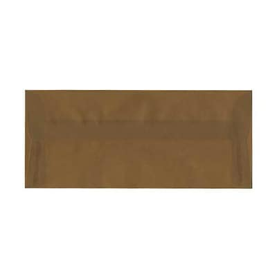 JAM Paper® #10 Business Envelopes, 4 1/8 x 9 1/2, Earth Brown Translucent Vellum, 500/box (PACV351AH)