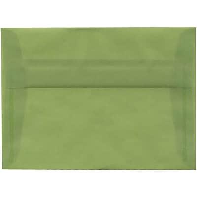 jam paper a7 invitation envelopes 5 25 x 7 25 leaf green