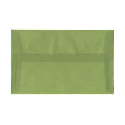 JAM Paper® A10 Invitation Envelopes, 6 x 9.5, Translucent Vellum Leaf Green, 250/box (PACV853H)