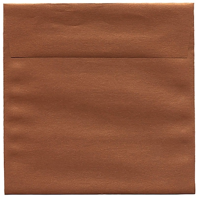JAM Paper® 6.5 x 6.5 Square Envelopes, Stardream Metallic Copper, 250/box (V018310H)