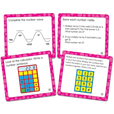 Carson-Dellosa Math Challenge Curriculum Cut-Outs Grade 5, 36/Pack