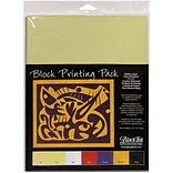 Graphic Products Block Printing Paper 9 x 12 inch, Assorted Colors
