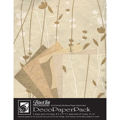 Graphic Products Decorative Paper Pack 11 x 8.5 inch, Meadow Flowers Cream