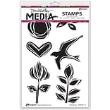 Dina Wakley Woodcuts Media Cling Stamps