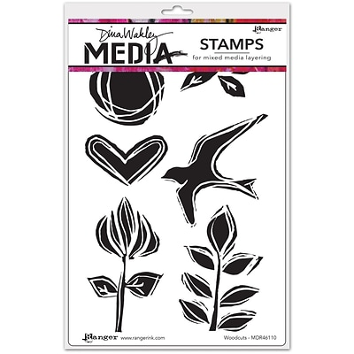Dina Wakley Dina Wakley Media Cling Stamps, Woodcuts