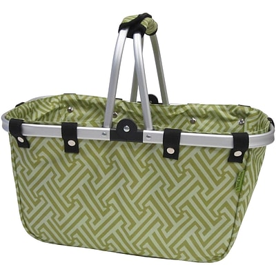 JanetBasket Interlock Collapsible Basket Green