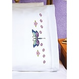 Janlynn Pillowcase Pair Stamped Cross Stitch 20 x 30 inch Dragonfly