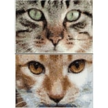 Thea Gouverneur Aida Counted Cross Stitch Kit 4.75 x 6.75 inch, Cats Tess + Simba