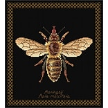 Thea Gouverneur Honey Bee On Aida Counted Cross Stitch Kit 8.25 x 8 inch
