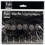 FabScraps Silver Pin Rose Embellishments