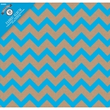 Colorbok Kraft Chevron Blu Post Bound Album