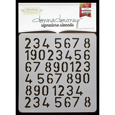 Donna Downey Stencils Signature Stencils, Numbers Repeat
