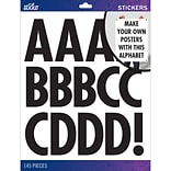 Sticko Alphabet Black Futura Stickers