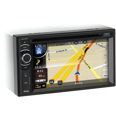 Boss(r) BV9386NV Double DIN In Dash DVD Receiver With Navigation, 6.2""