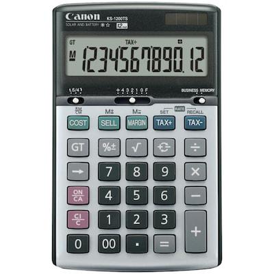 Canon(r) 8508A013 KS 1200TS 12 Digit Solar and Battery Powered Calculator