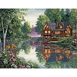Dimensions 35183 Multicolor 12 x 16 Gold Collection Cabin Fever Counted Cross Stitch Kit