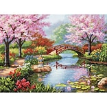 Dimensions 70-35313 Multicolor 16 x 12 Gold Collection Japanese Garden Counted Cross Stitch Kit
