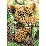 Dimensions 70-65118 Multicolor 7 x 5 Gold Petite Leopard Cub Counted Cross Stitch Kit