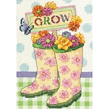 Dimensions 70-65127 Multicolor 7 x 5 Grow Mini Counted Cross Stitch Kit