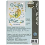 Dimensions 70-73923 White 7 x 5 Sweet Dreams Birth Record Counted Cross Stitch Kit