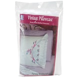 Fairway 82575 White 30 x 20 Southern Belle Stamped Lace Edge Pillowcases, 2/Pack