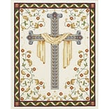 Janlynn 21-1018 White 18 x 18 Stamped Cross Stitch Quilt Blocks, 6/Pack