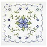 Janlynn 21-1333 Multicolor 18x18 Be & Yw Geometric Stamped Cross Stitch Quilt Blocks, 6/Pack