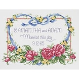 Janlynn 56-0193 Multicolor 8 x 10 Married This Day Counted Cross Stitch Kit